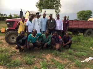 Salad Greenhouse and YPAED team at the 52 Hectare farm in FCT Abuja